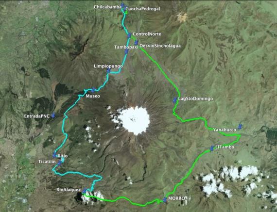Recorrido Vuelta al Cotopaxi 2012